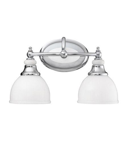 Kichler 5368CH Pocelona 2 Light 15 inch Chrome Bath Vanity Wall Light photo