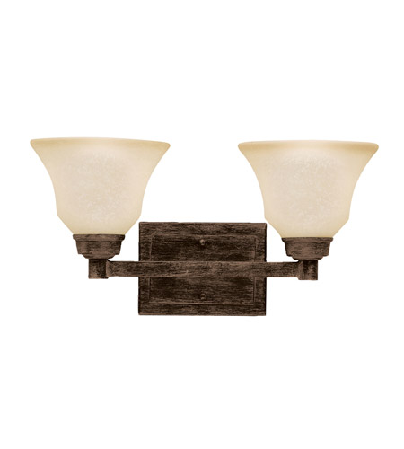 Kichler Lighting Langford 2 Light Bath Vanity in Canyon Slate 5389CST photo