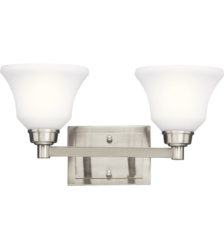 Kichler Lighting Langford 2 Light Bath Vanity in Brushed Nickel 5389NI