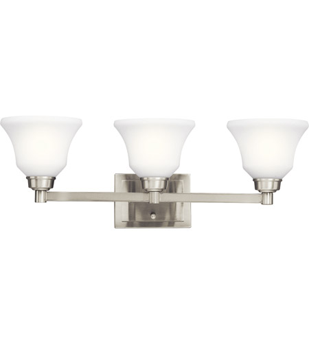 Kichler Lighting Langford 3 Light Bath Vanity in Brushed Nickel 5390NI
