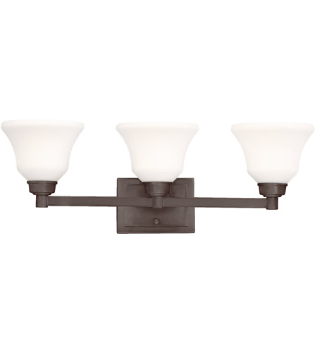 Kichler Lighting Langford 3 Light Bath Wall in Olde Bronze 5390OZ