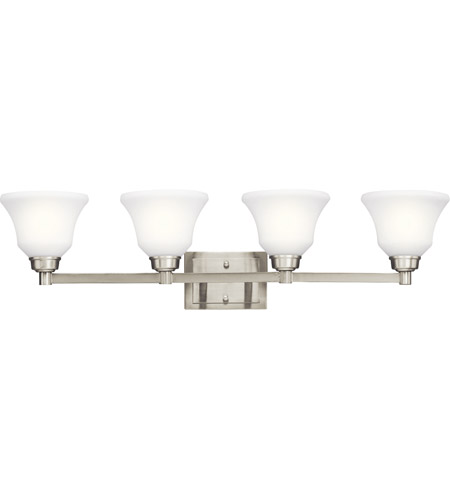 Kichler Lighting Langford 4 Light Bath Vanity in Brushed Nickel 5391NI