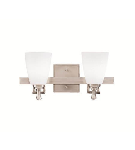 Kichler Lighting Uptown 2 Light Bath Vanity in Brushed Nickel 5402NI