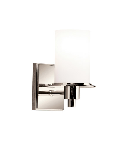 Kichler Lighting Cylinders 1 Light Wall Sconce in Polished Nickel 5436PN