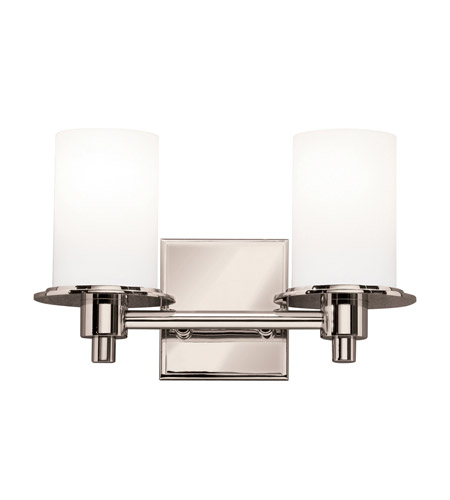Kichler 5437PN Cylinders 2 Light 13 inch Polished Nickel Bath Vanity Wall Light photo