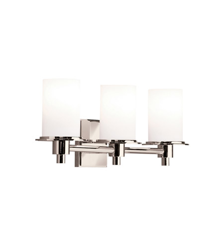 Kichler Lighting Cylinders 3 Light Bath Vanity in Polished Nickel 5438PN photo