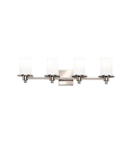 Kichler 5439PN Cylinders 4 Light 29 inch Polished Nickel Bath Vanity Wall Light photo