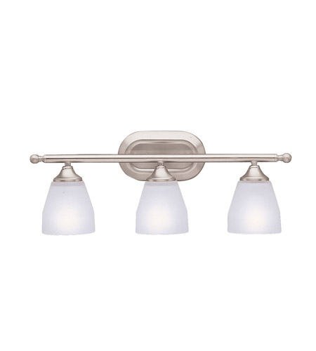 Kichler Lighting Ansonia 3 Light Bath Vanity in Brushed Nickel 5448NI