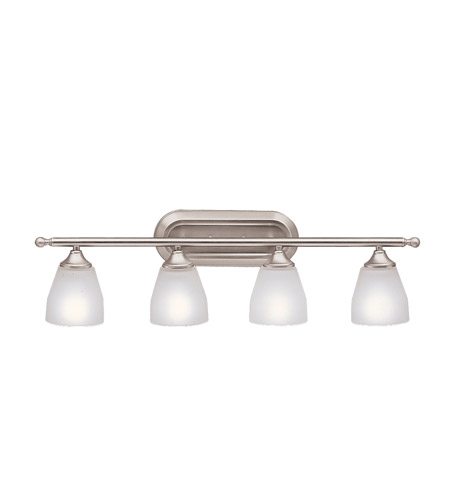 Kichler Lighting Ansonia 4 Light Bath Vanity in Brushed Nickel 5449NI