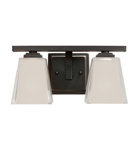 Kichler Lighting Urban Ice 2 Light Bath Vanity in Olde Bronze 5460OZ photo