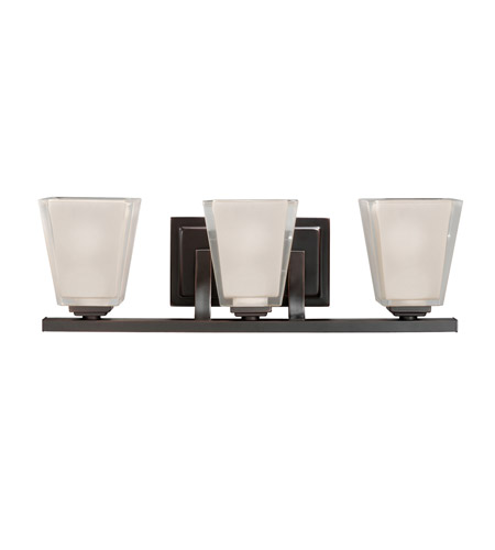 Kichler Lighting Urban Ice 3 Light Bath Vanity in Olde Bronze 5461OZ photo