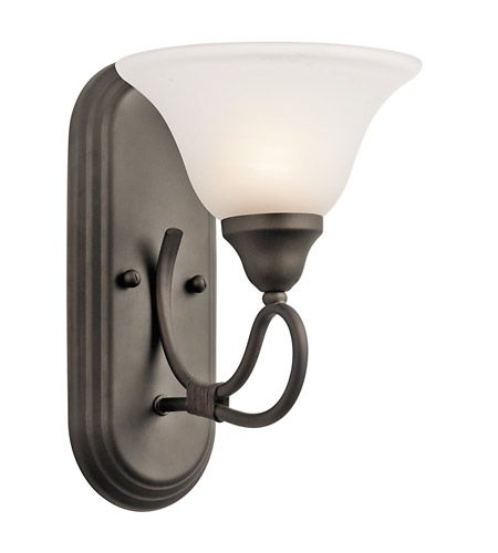 Kichler Lighting Stafford 1 Light Wall Sconce in Olde Bronze 5556OZ