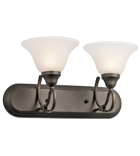 Kichler Lighting Stafford 2 Light Bath Vanity in Olde Bronze 5557OZ