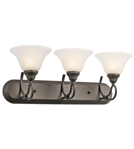 Kichler Lighting Stafford 3 Light Bath Vanity in Olde Bronze 5558OZ photo