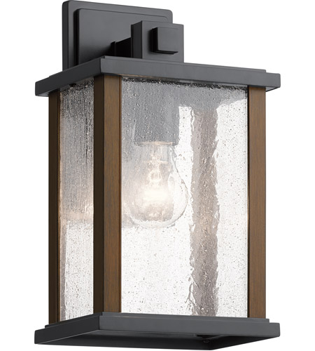 Kichler 59017BK Marimount 1 Light 13 inch Black Outdoor Wall, Medium photo