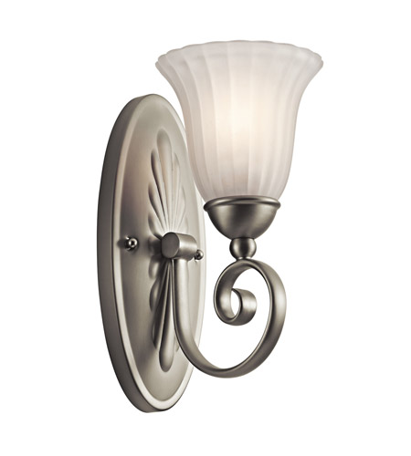 Kichler Lighting Willowmore 1 Light Wall Sconce in Brushed Nickel 5926NI