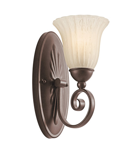 Kichler Lighting Willowmore 1 Light Wall Sconce in Tannery Bronze 5926TZ