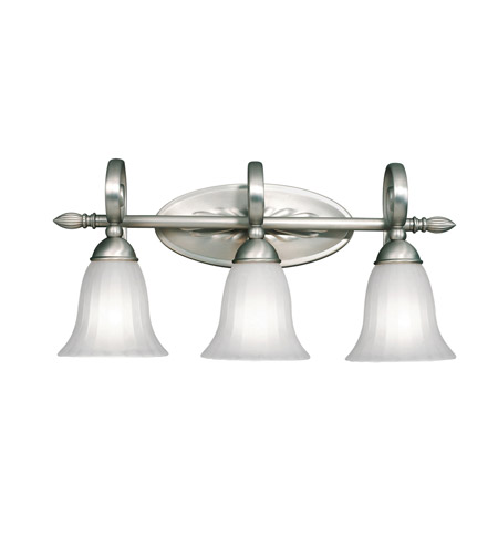 Kichler Lighting Willowmore 3 Light Bath Vanity in Brushed Nickel 5928NI photo