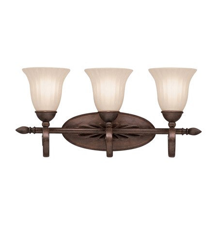Kichler Lighting Willowmore 3 Light Bath Vanity in Tannery Bronze 5928TZ