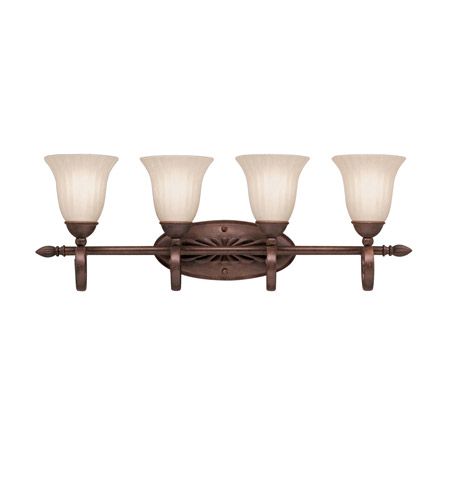 Kichler Lighting Willowmore 4 Light Bath Vanity in Tannery Bronze 5929TZ