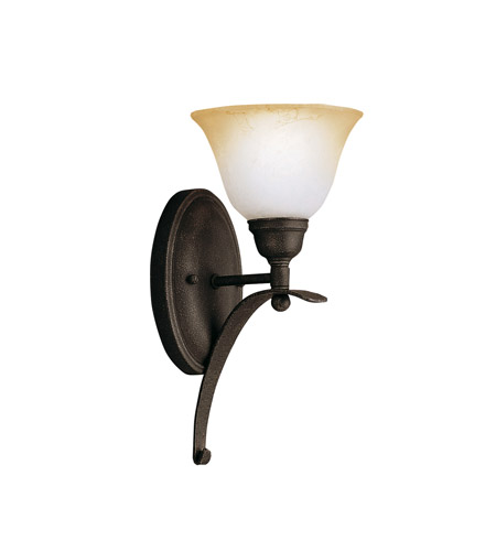 Kichler Lighting Pomeroy 1 Light Wall Sconce in Distressed Black 5941DBK