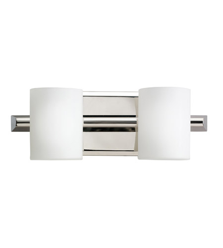Kichler Lighting Tubes 2 Light Bath Vanity in Polished Nickel 5966PN