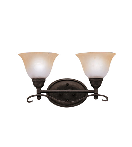 Kichler Lighting Pomeroy 2 Light Bath Vanity in Distressed Black 5972DBK