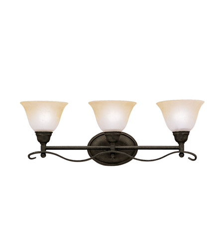 Kichler Lighting Pomeroy 3 Light Bath Vanity in Distressed Black 5973DBK