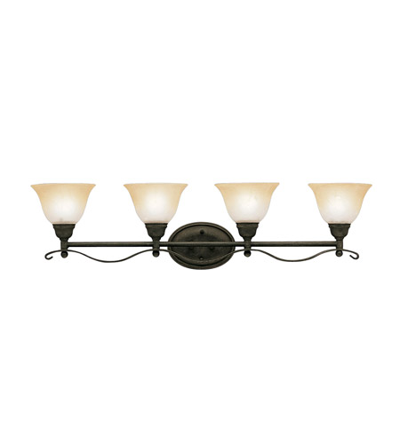 Kichler Lighting Pomeroy 4 Light Bath Vanity in Distressed Black 5974DBK
