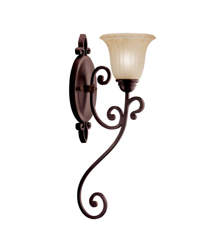 Kichler Lighting Wilton 1 Light Wall Sconce in Carre Bronze 5987CZ