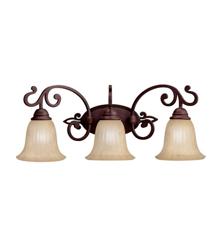 Kichler 5989CZ Wilton 3 Light 25 inch Carre Bronze Bath Vanity Wall Light photo