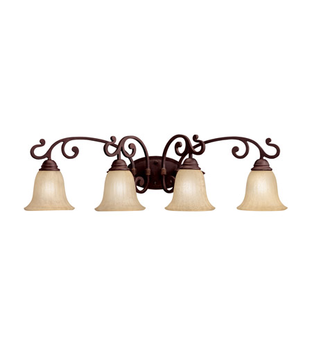 Kichler 5990CZ Wilton 4 Light 34 inch Carre Bronze Bath Vanity Wall Light photo