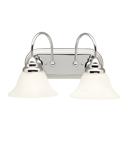 Kichler 5992CH Telford 2 Light 18 inch Chrome Bath Vanity Wall Light photo