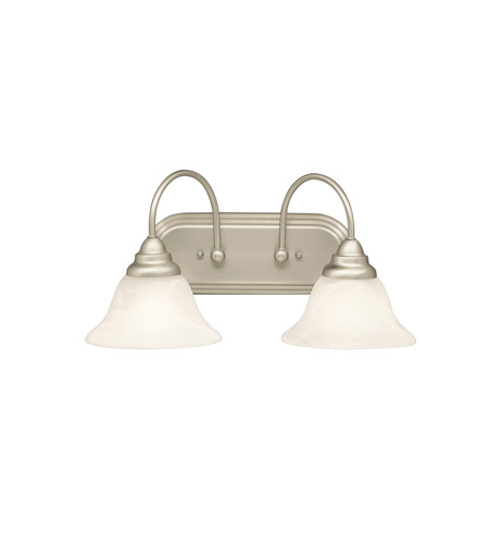 Kichler Lighting Telford 2 Light Bath Vanity in Brushed Nickel 5992NI photo
