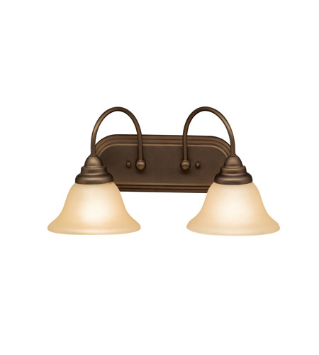 Kichler Lighting Telford 2 Light Bath Vanity in Olde Bronze 5992OZ photo