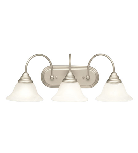 Kichler Lighting Telford 3 Light Bath Vanity in Brushed Nickel 5993NI