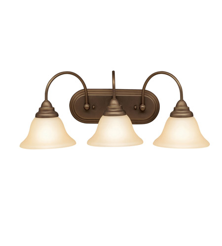Kichler Lighting Telford 3 Light Bath Vanity in Olde Bronze 5993OZ photo