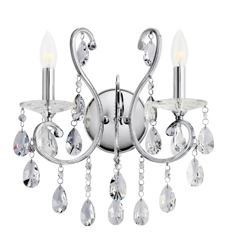 Kichler Lighting Marcalina 2 Light Wall Sconce in Chrome 6013CH
