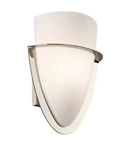Kichler Lighting Palla 1 Light Wall Sconce in Polished Nickel 6020PN photo