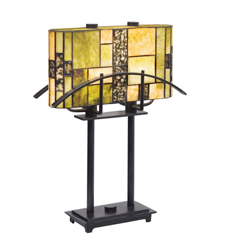 Kichler Lighting Bayonne 2 Light Table Lamp in Satin Black 60282CA