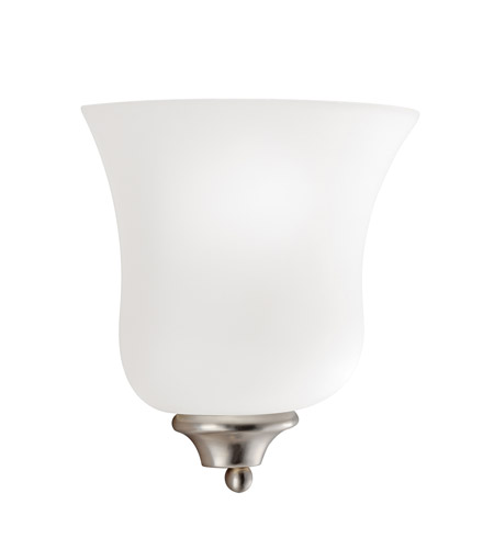 Kichler Lighting Wedgeport 1 Light Wall Sconce in Brushed Nickel 6086NI