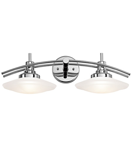 Kichler 6162CH Structures 2 Light 21 inch Chrome Bath Bracket Wall Light photo