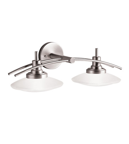 Vanity Lights In Brushed Nickel : Kichler Lighting Structures 2 Light Bath Vanity in Brushed Nickel 6162NI
