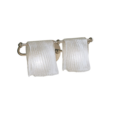 Kichler Lighting Drapes 2 Light Bath Vanity in Brushed Nickel 6312NI photo