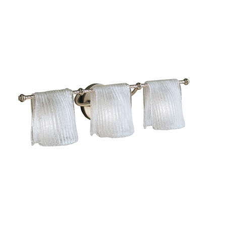 Kichler 6313NI Drapes 3 Light 27 inch Brushed Nickel Bath Vanity Wall Light photo
