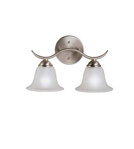 Kichler Lighting Dover 2 Light Bath Vanity in Brushed Nickel 6322NI