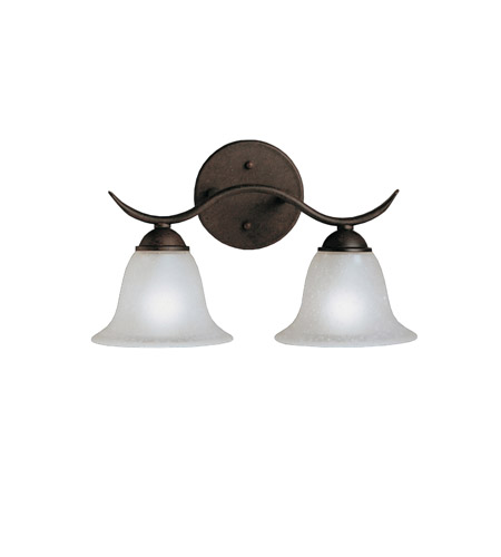 Kichler Lighting Dover 2 Light Bath Vanity in Tannery Bronze 6322TZ