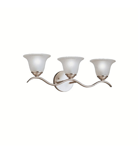 Kichler Lighting Dover 3 Light Bath Vanity in Brushed Nickel 6323NI