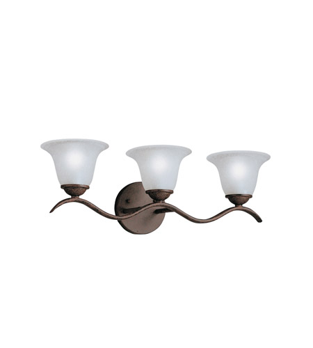 Kichler Lighting Dover 3 Light Bath Vanity in Tannery Bronze 6323TZ