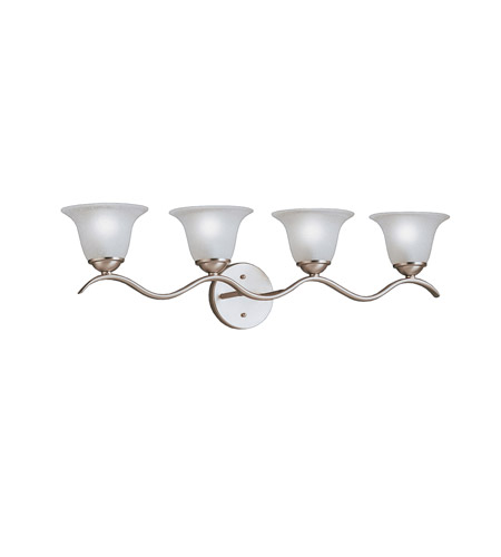 Kichler Lighting Dover 4 Light Bath Vanity in Brushed Nickel 6324NI
